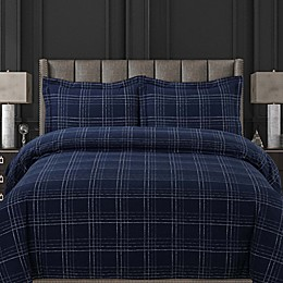 Tribeca Living Oxford Plaid Duvet Cover Set