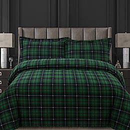 Tribeca Living Cambridge Plaid Duvet Cover Set