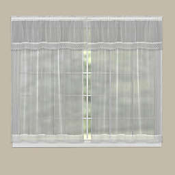 Heritage Lace® Chelsea Rod Pocket Window Curtain Panel and Valance