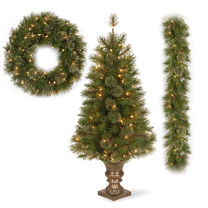 National Tree Atlanta Spruce Christmas Tree Collection | Bed Bath ...