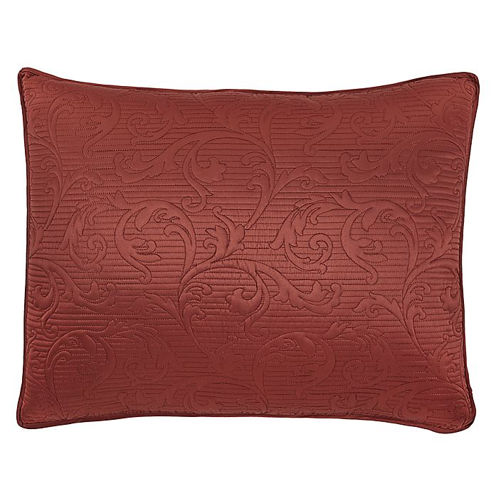 Alternate image 1 for Croscill® Cosette Quilted King Pillow Sham in Red
