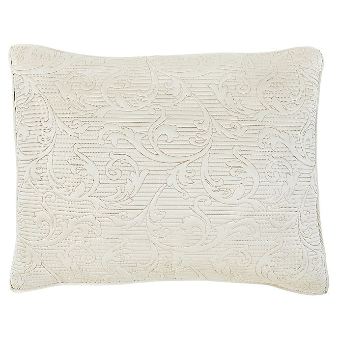 Alternate image 1 for Croscill® Cosette Quilted King Pillow Sham in Ivory