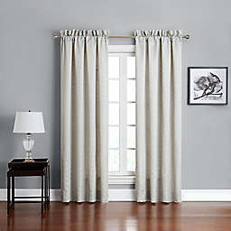 Marquis® by Waterford Lacy 84-Inch Rod Pocket Window Curtain Panel Pair in Silver