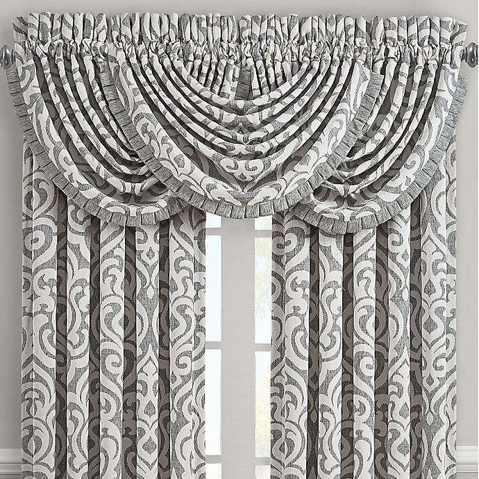 Alternate image 1 for J. Queen New York™ Pierce Rod Pocket Window Valance in Charcoal