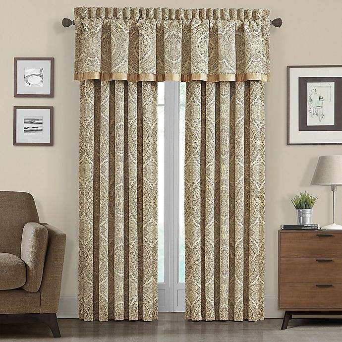 Alternate image 1 for J. Queen New York™ 84-Inch Sardinia Window Curtain Panel in Gold