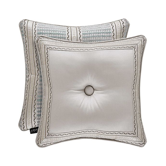 Alternate image 1 for J. Queen New York™ Dimitri 18-Inch Square Throw Pillow in Silver
