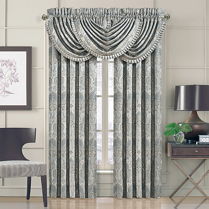 Alternate image 1 for J. Queen New York™ Dimitri 84-Inch Rod Pocket Window Curtain Panel Pair in Spa