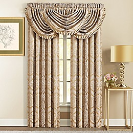 J. Queen New York™ Gianna 84-Inch Rod Pocket Window Curtain Panel Pair in Gold