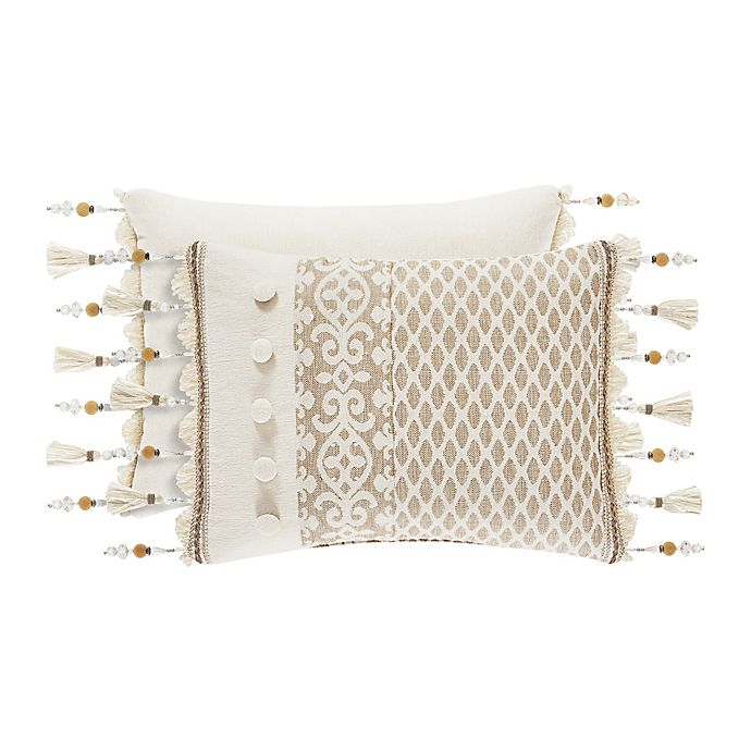 Alternate image 1 for J. Queen New York™ Milano Boudoir Throw Pillow in Sand