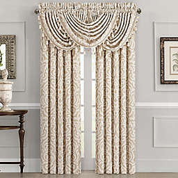 J. Queen New York™ Milano 2-Pack 84-Inch Rod Pocket Window Curtain in Sand