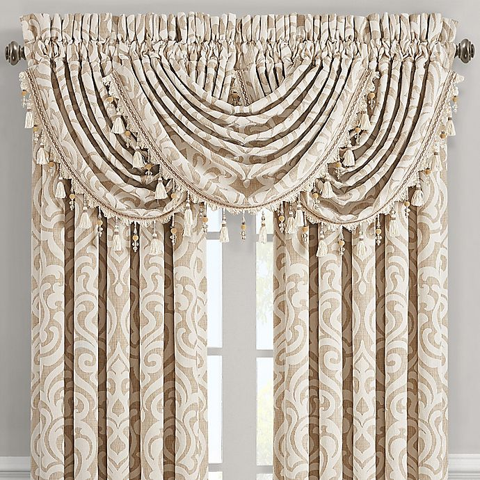 Alternate image 1 for J. Queen New York™ Milano Waterfall Window Valance in Sand