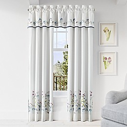Piper & Wright Betsy 84-Inch Rod Pocket Window Curtain Panel Pair n White