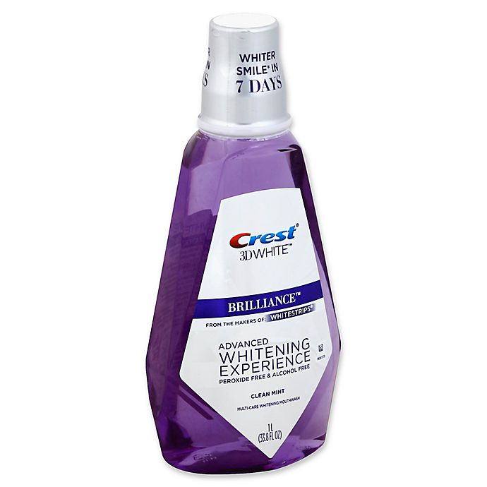 Alternate image 1 for Crest® 3D White™ 33.8 fl. oz. Advanced Whitening Experience Mouthwash in Clean Mint