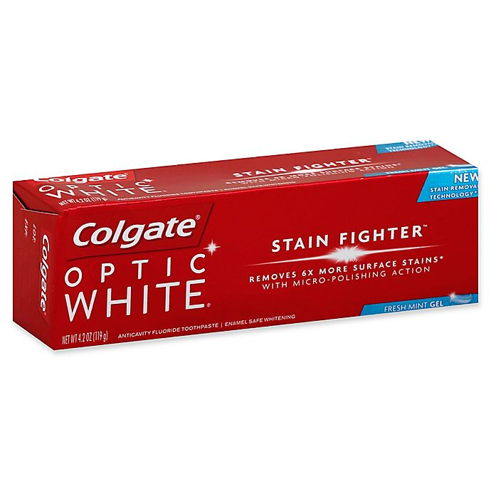 Alternate image 1 for Colgate® 4.2 oz. Optic White® Gel Toothpaste in Fresh Mint