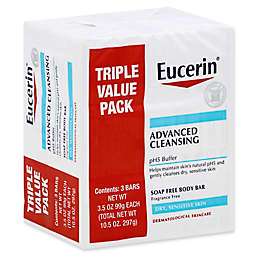 Eucerin® 3-Count Advanced Cleansing Soap-Free Body Bar