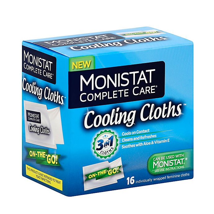 Monistat Complete Care 16 Count 3 In 1 Cooling Cloths Bed