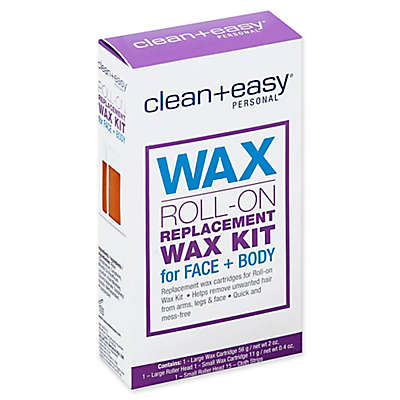 Clean+Easy Wax Roll-On Replacement Wax Kit Face and Body