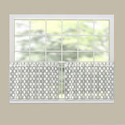Heritage Lace® Polka Dot 30-Inch Rod Pocket Kitchen Curtain Tier Pair in White