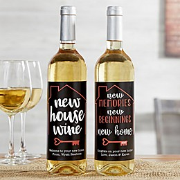 New House Wine Personalized Wine Bottle Label