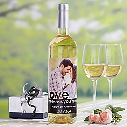 Love The Wine You're With Photo Personalized Wine Bottle Label