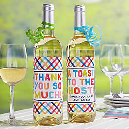 Thanks From... Personalized Wine Bottle Labels