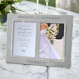 Lenox® Devotion Personalized 5-Inch x 7-Inch Double Invitation Picture Frame