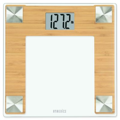 HoMedics® Bamboo Digital Bathroom Scale | Bed Bath and ...