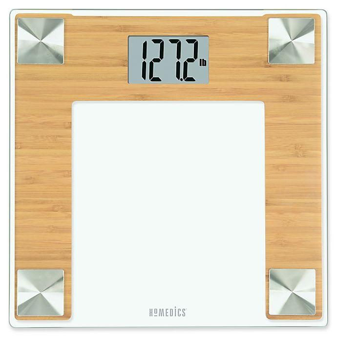 Homedics Bamboo Digital Bathroom Scale