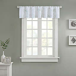 Marble Window Curtain Valance in Silver