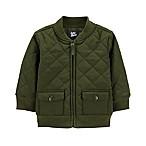 OshKosh B'Gosh® Size 9-12M Quilted Bomber Jacket in Olive