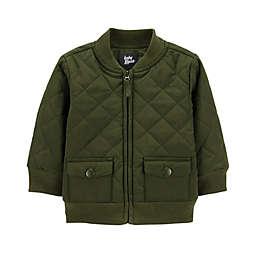OshKosh B'Gosh® Quilted Bomber Jacket in Olive