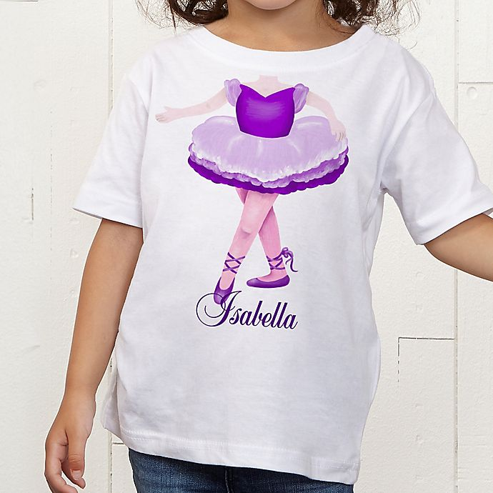 Alternate image 1 for I Want To Be Personalized Girl Toddler T-Shirt