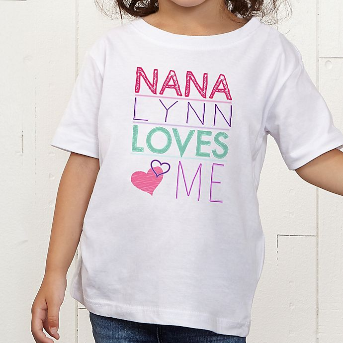 Alternate image 1 for Look Who Loves Me Personalized Toddler T-Shirt