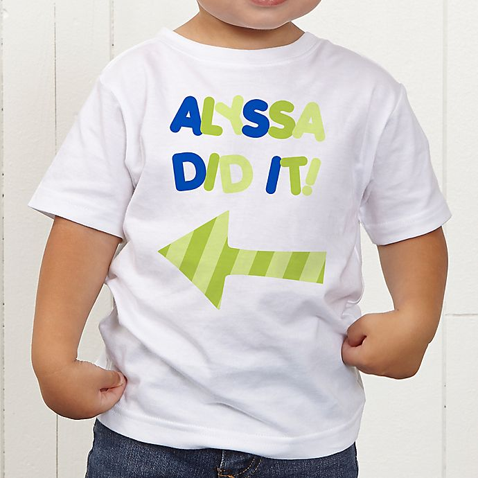 Alternate image 1 for They Did It! Personalized Toddler T-Shirt