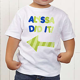 They Did It! Personalized Toddler T-Shirt