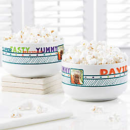 Super Tasty Personalized Photo Snack Bowl