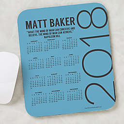 Calendar & Quote Personalized Mouse Pad