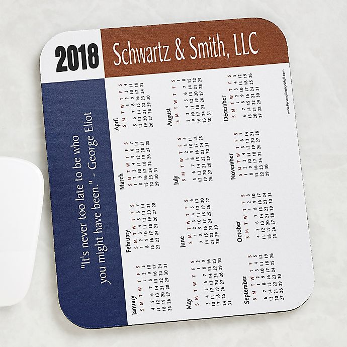 Alternate image 1 for 35 Quotes Calendar Personalized Mouse Pad