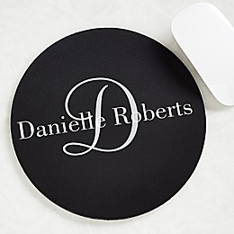 Classic Monogram Personalized Mouse Pad