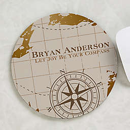 Compass Inspired Personalized Mouse Pad