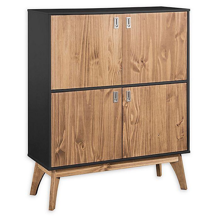 Alternate image 1 for Manhattan Comfort™ Jackie High Dresser Cabinet in Dark Grey/Oak