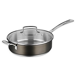 Cuisinart® Stainless Steel 5.5 qt. Covered Saute Pan in Black