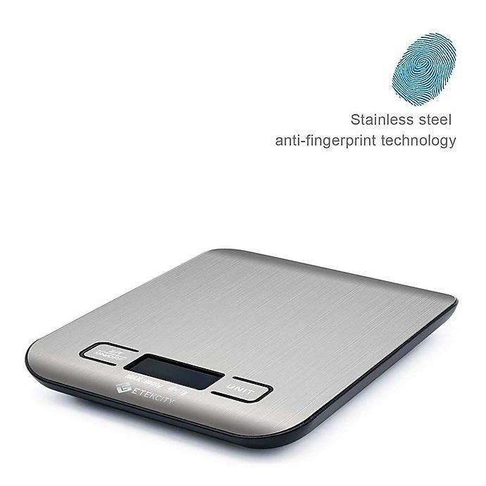 Alternate image 1 for Etekcity Digital Stainless Steel Kitchen Food Scale