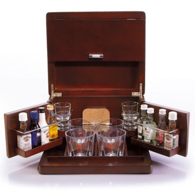 Brookstone 174 Mini Bar Portable Tabletop Bar Amp Accessories