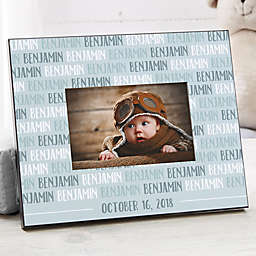 Modern Baby Boy Personalized Picture Frame