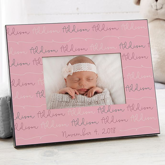 Alternate image 1 for Modern Baby Girl Personalized Picture Frame