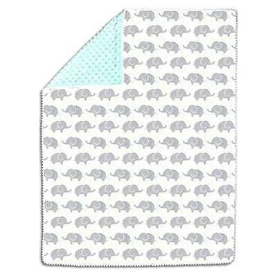 The Peanutshell™ Elephant Baby Blanket in Grey