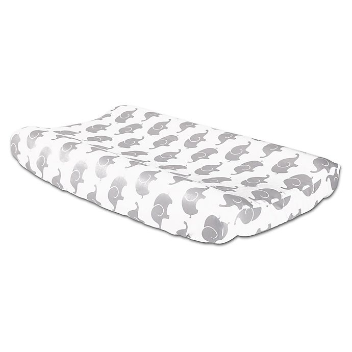 Alternate image 1 for The Peanutshell™ Elephant Changing Pad Cover in Grey