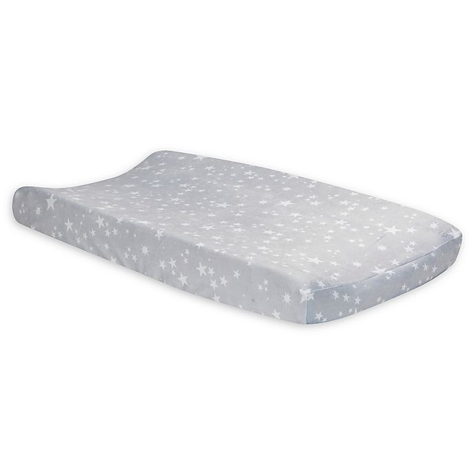 Alternate image 1 for Lambs & Ivy® Milky Way Changing Pad Cover in Grey/White