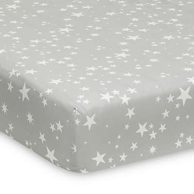 Lambs & Ivy® Milky Way Fitted Crib Sheet in Grey/White
